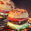 Pork Burgers with cheese and tomato
