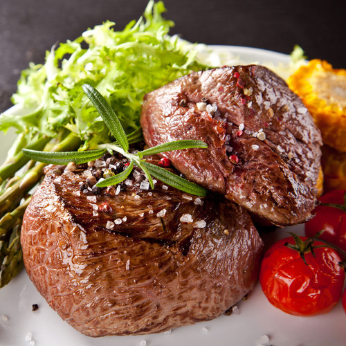 Bulk 8 x (2)4oz pk  Bison Filet Mignons