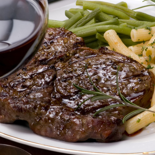 Bison rib eye steak