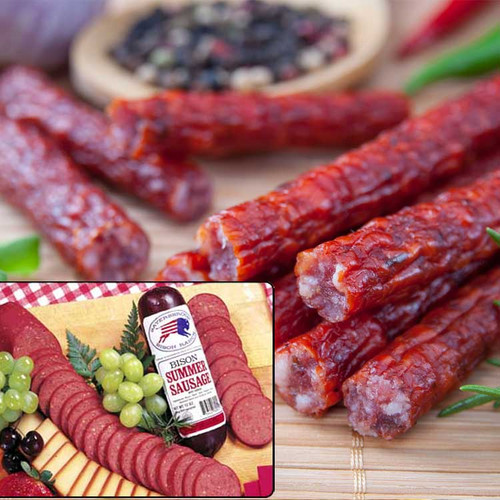 Jerky and summer sausage from Sayersbrook Bison