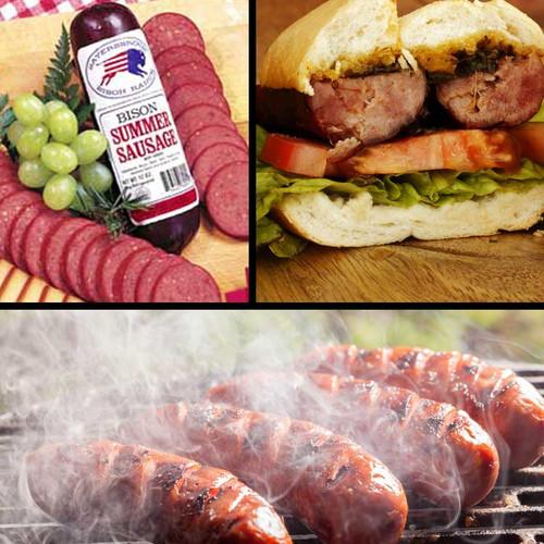Sausage Sampler Pack from Sayersbrook Bison
