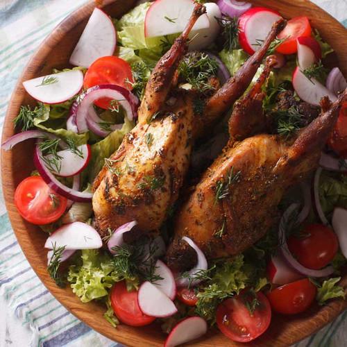 Roast Quail dish