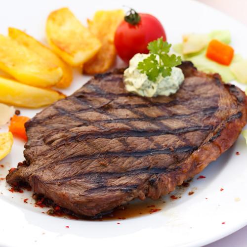 New York bison strip loin steak