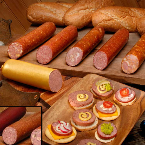 Sausages ready to eat. Italian salami