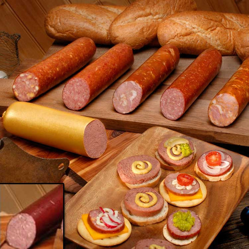 Swiss brand summer sausage cooked and ready to serve