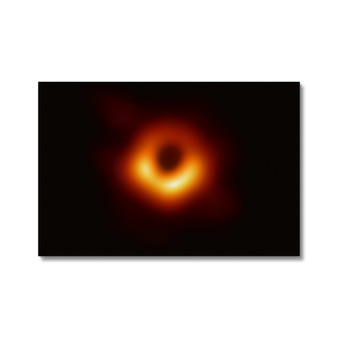 First Image of a Black Hole Canvas