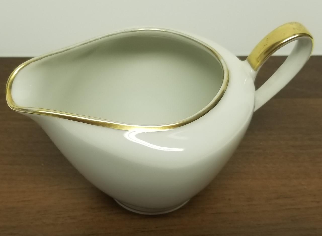 Vintage Bavaria Elfenbein Porzellan Gold Trim Creamer Annie Rooster S Sally Ann S Antiques Collectibles And More