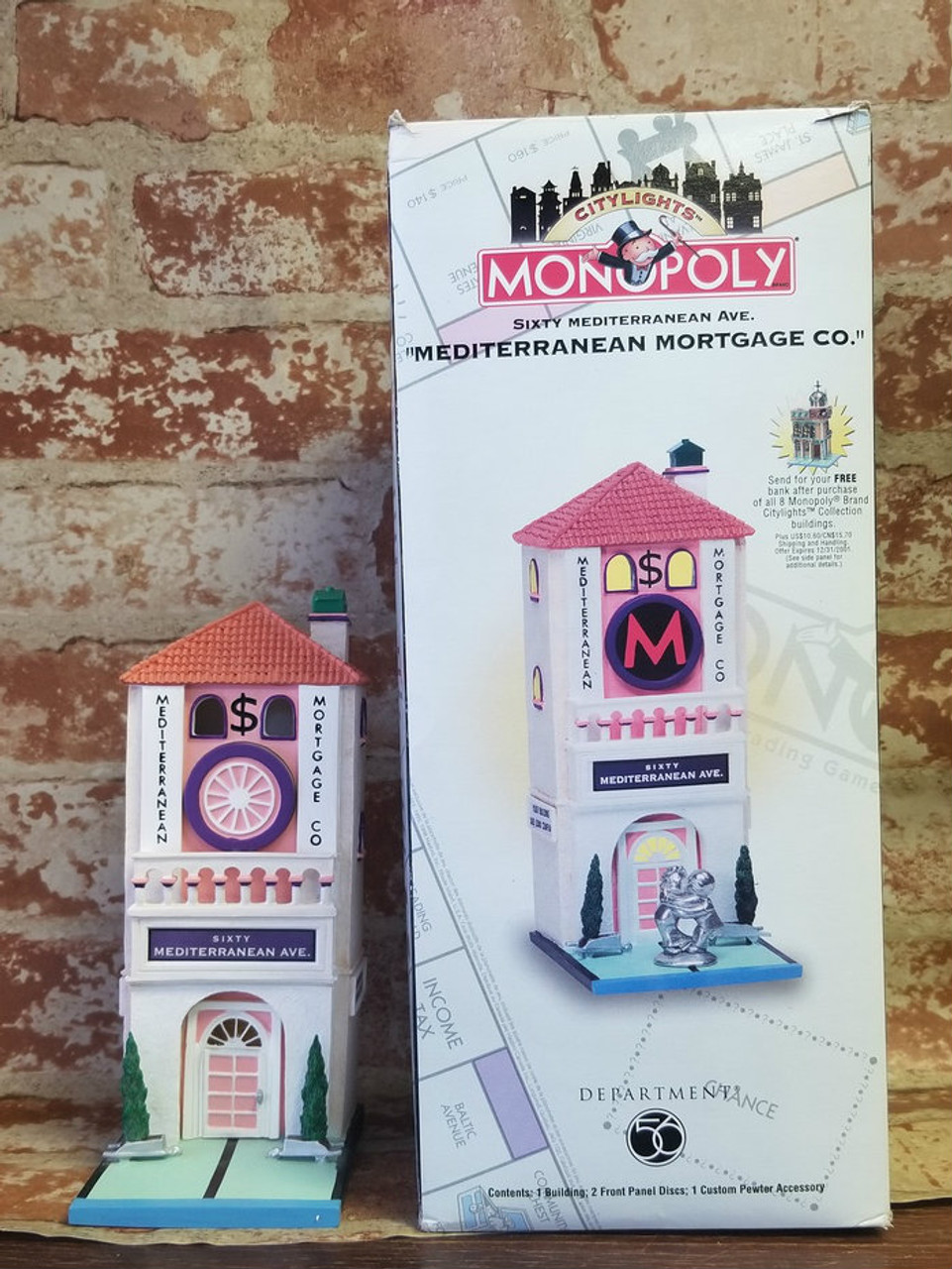 Sixty Mediterranean Ave Mortgage Co Monopoly Department 56