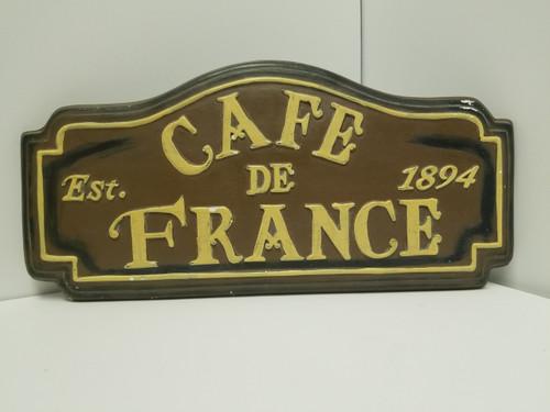 """CAFE DE FRANCE"" Wall Plaque"