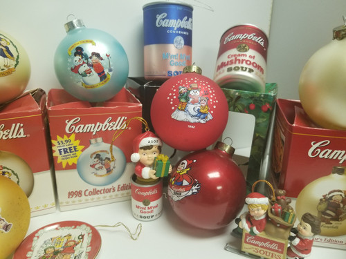 ... Collection of 14 Campbell's Soup Christmas Ornaments ... - Collection Of 14 Campbell's Soup Christmas Ornaments - Annie