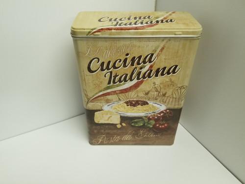 """Cucina Italiana"" Nostalgic Tin/Steel Canister"