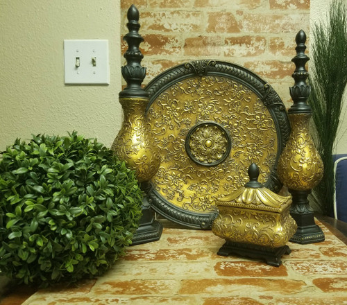 """Set of 4 """"Golden Wiltshire"""" Home Decor Accent Collection"""