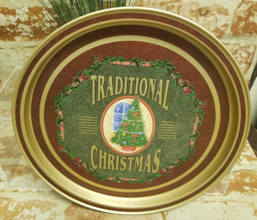 """""""Traditional  Christmas"""" Round Tray by INDECCO"""
