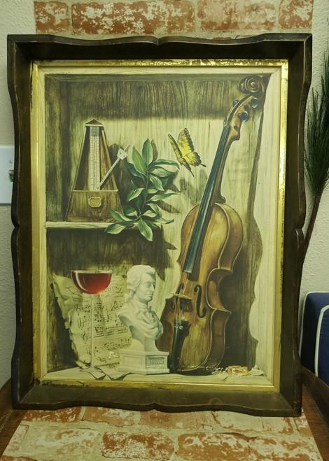 """""""Violin"""" by William Ward Beecher Artwork on Board (RARE)"""