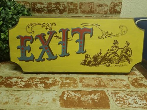 "Vtg 1970's ""Exit"" Plaque/Sign by Yorkraft Inc. Pennsylvania"