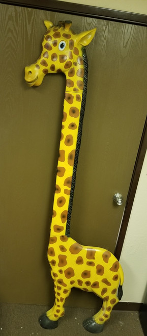 ***RARE*** Large Wood Giraffe Growth Chart /Cartoon Life-Like Statue