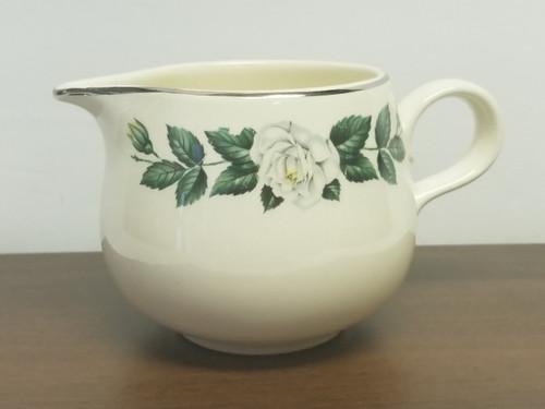 "Creamer - Homer Laughlin ""Rhythm"" White Rose Collection"