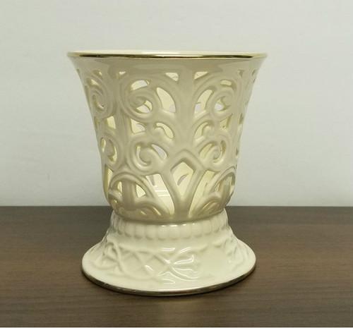 LENOX Ivory & 24k Trim-Illuminations Candle-Holder