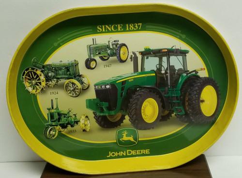 "15"" John Deere Metal/Tin Tray - Evolution of the Tractor"