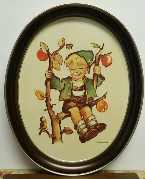 "1982 ars Edition ""Apple Tree Boy"" Hummel Collectors Large Oval Tin"