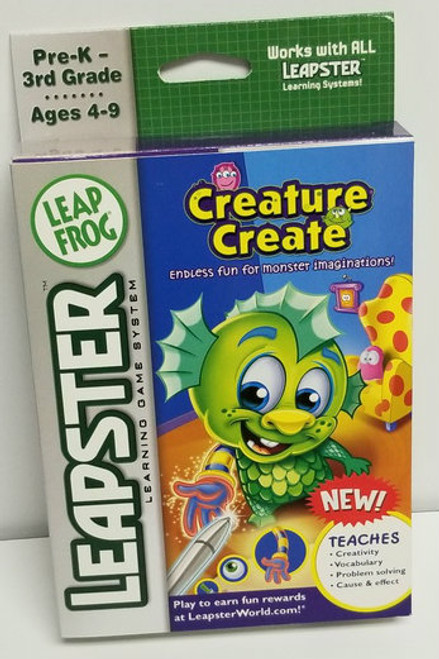 Leapster Creature Create by LeapFrog Learning Game System - NEW
