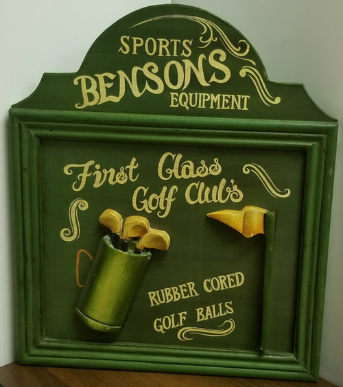 Sports BENSON'S Equipment 3D Wooden Wall Decor/Plaque