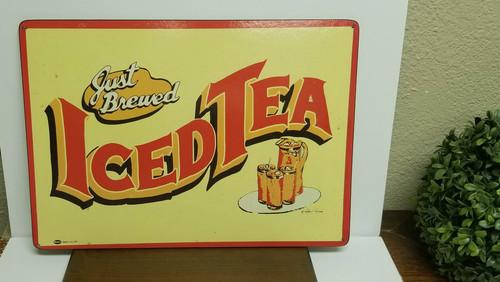 """Just Brewed Ice Tea"" Cork-Board Wall Decor by Marty Mummert"