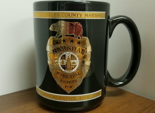Los Angeles County Marshals Commemorative 22k Gold Mug by KAPAN-KENT