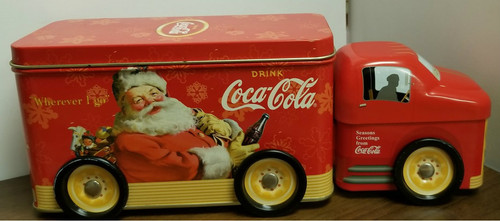 Coca Cola Tin Truck w/Santa