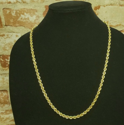 """Vintage Gold-Tone Link-Rope Chain/Necklace - 27"""""""