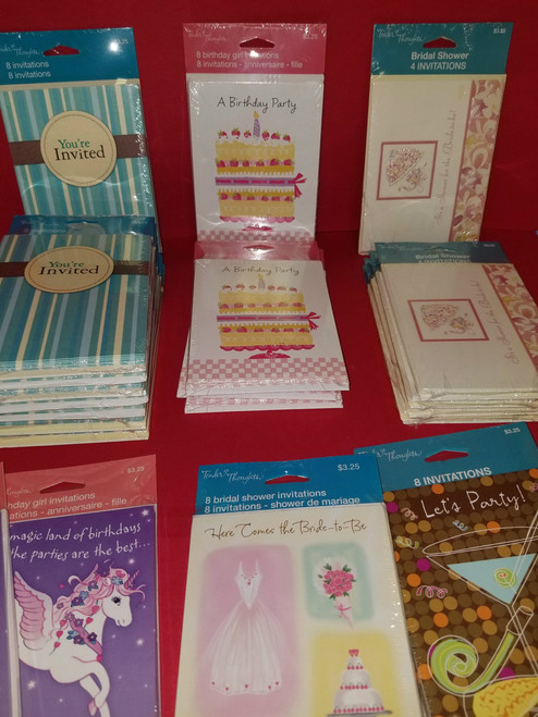 Invitation LOT - 22 Packs (8 Cards in each pack)