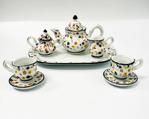 10 Pc Miniature Tea Set - Confetti