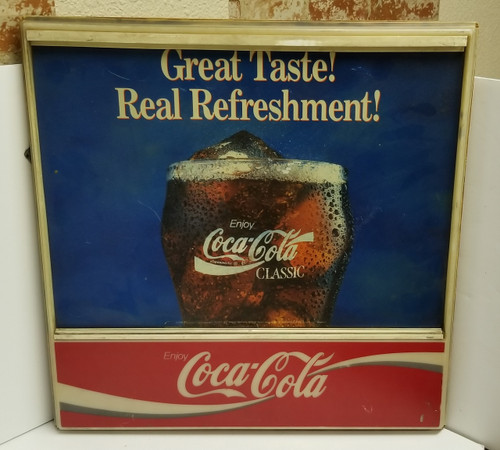 90's Coca Cola & Dynamic Ribbon Device Store/Display Sign
