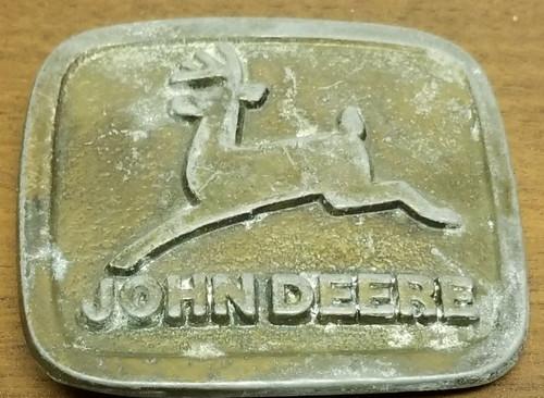 Brass John Deere Belt Buckle