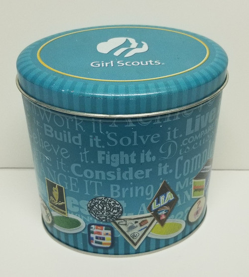 Oval Shaped Girl Scouts Tin