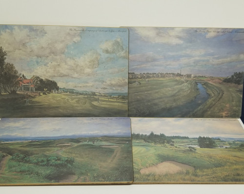 Collection of 4 Handmade Placemats - Golf Course & Events Scenery