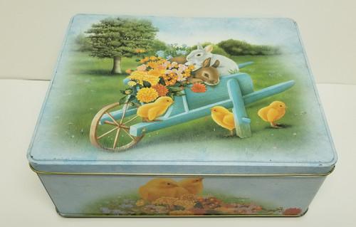 Balocco Large Keepsake Tin Box - Easter, Chicks and Bunnies
