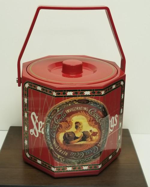 Vintage TOYO Ice Bucket w/Coca Cola/Season's Greetings Themed