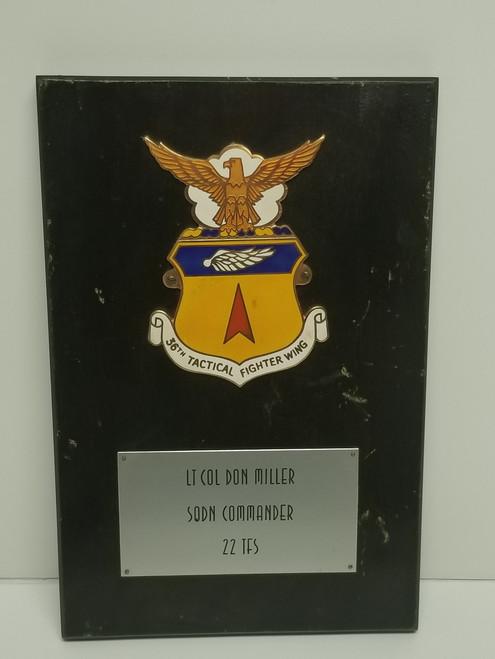 36th Tactical Fighter Wing Military Memorabilia Plaque