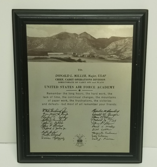 United States Air Force Academy Military Memorabilia - Donald L. Miller