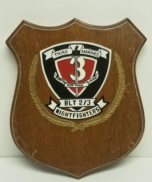 Third MARINES NIGHT FIGHTERS Military Memorabilia Plaque