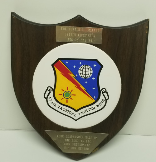 474TH TACTICAL FIGHTER WING Military Memorabilia - COL. DONALD L. MILLER