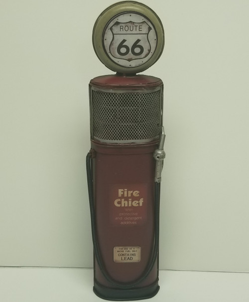 Fire Chief Gas Pump -  Route 66 Metal Wall Decor