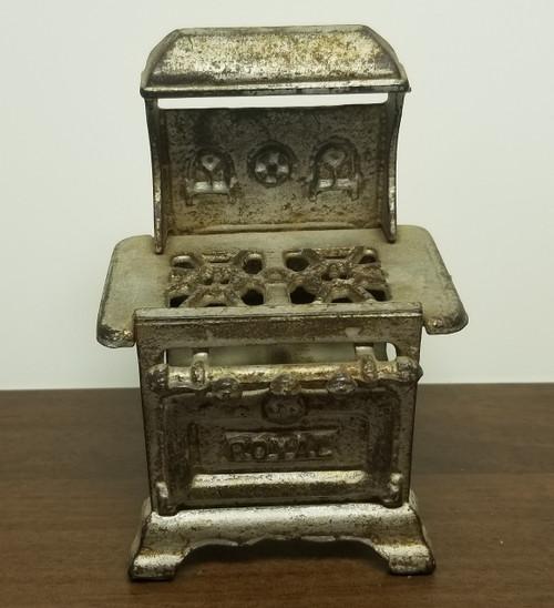 "Vintage ""ROYAL"" Miniature Dollhouse Stove"