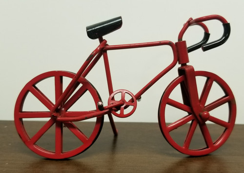 Miniature Dollhouse Red Bicycle