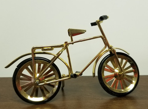 Miniature Dollhouse Gold Tone Bicycle