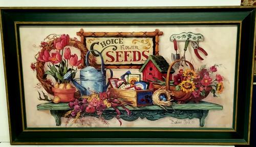 "Framed ""Choice Flower Seeds"" Art Print By Barbara Mock"