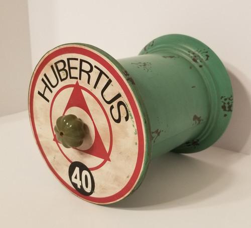 "Nostalgic & Whimsical ""HUBERTUS 40"" Metal/Tin Canister"