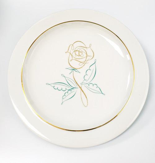 """Easterling  """"Spencerian Rose"""" Dinner Plate"""