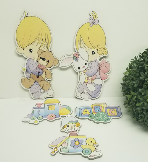 5 Pc Precious Moments Cardboard Cut-Outs/ Baby Room Decor